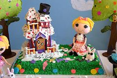 Thaty's Cakes: Kids Lalaloopsy cake  dont love this cake but could use this idea and make it more like what im looking for