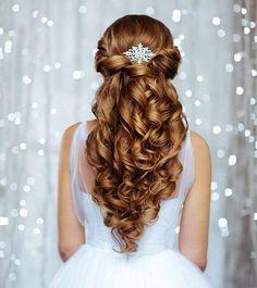 20 Hochzeitsfrisuren für langes Haar, Hochzeit Frisuren für lange Haare, Hochzeit Frisuren Wedding Hairstyles For Women, Quince Hairstyles, Pretty Hairstyles, Hairstyle Ideas, Perfect Hairstyle, Prom Hairstyles, Hairstyles For Graduation, Makeup Hairstyle, Easy Hairstyles