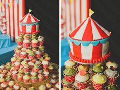 Circus themed wedding cake / cupcakes!