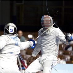 Sparks fly during heated fencing battle http://ift.tt/2oZG8yH Love #sport follow #sports on @cutephonecases