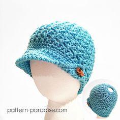 Crochet Pattern: Bean Town Beanie & Messy Bun Hat   Pattern Paradise