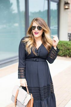 Midi Dress Two Ways - Black Midi Dress Two Ways by North Carolina fashion blogger Coffee Beans and Bobby Pins