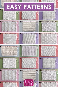 Collect simple Knit Stitch Patterns with different combinations of simple knits and purl stitches. Collect simple Knit Stitch Patterns with different combinations of simple knits and purl stitches.Perfect for Beginning Knitters! Enjoy this free collection Knitting Videos, Knitting For Beginners, Knitting Stitches, Free Knitting, Free Crochet, Knit Crochet, Vintage Knitting, Knitting Bags, Knitting Stitch Patterns