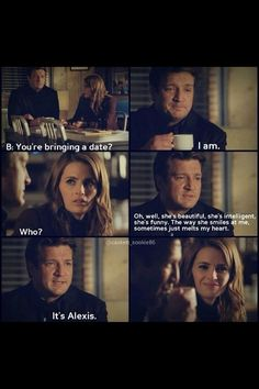 Saw this on Facebook. I loved this episode! She was totally jealous. Then she heard it was Alexis.