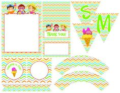 Free summer party printables.  This would be great for the end of summer pool party!