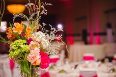 Simple Elegance: Real Weddings: Samantha + Tylor courtesy of #sharayamauckphotography #craigsoledesigns #hotpinkreception #sheratonop #simpleelegance @iplanyourwed #kansascity #weddingplanner www.iplanyourwedding.com