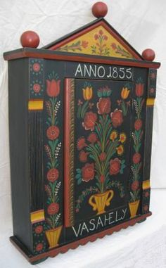 Designer makers of painted Hungarian wall cupboards & furniture Art Furniture, Hand Painted Furniture, Country Furniture, Bedroom Cupboard Designs, Wall Cupboards, Scandinavian Folk Art, Painted Boxes, Paint Designs, Antique Art