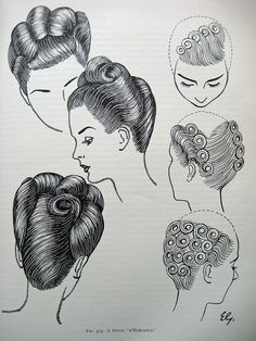 Volume and rolls combine in this elegant updo from 1950. #vintage #hair #1950s #hairstyle