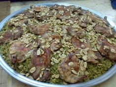 Freekeh with Chicken, Palestinian food