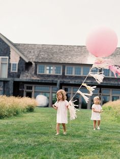 little flower girls and their big balloons Photography by Trent Bailey Photography / trentbailey.com, Event Planning by Loli Events / lolievents.com