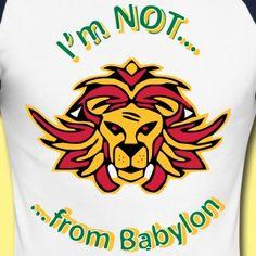 """Shirt Baseball Normal Lion """"I'm Not from abylon"""""""