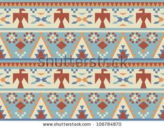 Seamless pattern in native American style #2 by Radiocat, via ShutterStock