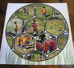 soccer scrapbook page shared on ScrapDolly's Facebook page