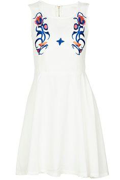 ROMWE | Embroidered White Dress, The Latest Street Fashion #ROMWE