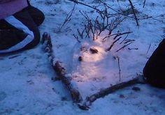 NATURKINDER: LandArt mit Kindern | Schneeigel