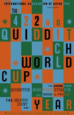 422nd Quidditch World cup, Official Poster