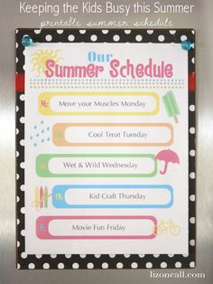 keep the kids busy this summer with this free printable summer schedule #summer #free #printable #kids