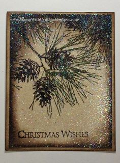 Beautiful card using Ornamental Pine from the Stampin' Up! 2014 Holiday Catalogue.