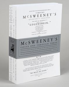 McSweeney's Quarterly Concern with Bellyband
