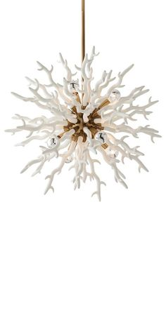 Chandeliers, White Coral Diallo Chandelier, so beautiful, one of over 3,000 limited production interior design inspirations inc, furniture, lighting, mirrors, tabletop accents and gift ideas to enjoy repin and share at InStyle Decor Beverly Hills Hollywood Luxury Home Decor enjoy & happy pinning