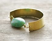 the Turquoise Brass cuff