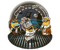Despicable Training Minion+StarWars #mashup