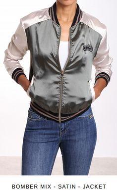 Erhältlich im online Shop von gang-fashion.com mit 8% Cashback für KGS Partner Hooded Jacket, Bomber Jacket, Partner, Jeans, Fit, Girls, Satin, Athletic, Jackets