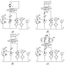 схемы работы представленных ранее гидроприводов