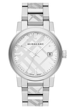 Burberry Check Stamped Bracelet Watch 38mm