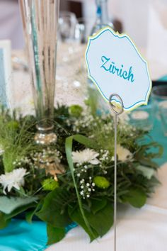 """One of our tables, called """"Zürich""""."""