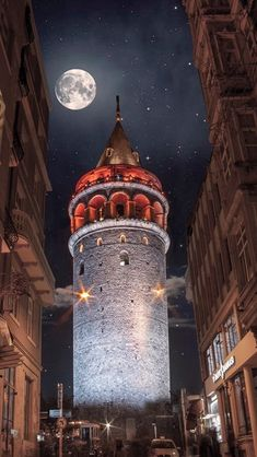 Galata-Turm, Istanbul – – Best of Wallpapers for Andriod and ios Beautiful Nature Wallpaper, Beautiful Moon, Beautiful Places, Beautiful Buildings, New Wallpaper, Galaxy Wallpaper, Iphone Wallpaper, Plan Wallpaper, Animal Wallpaper