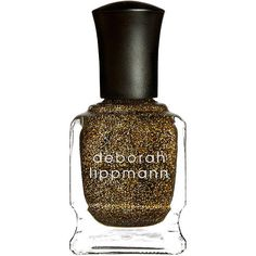 Deborah Lippmann Nail Color, Can't Be Tamed 0.5 oz (15 ml) ($20) ❤ liked on Polyvore featuring beauty products, nail care, nail polish, beauty, makeup, nail, deborah lippmann nail lacquer, gold nail polish, glitter nail lacquer and opi nail lacquer