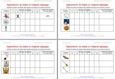 Actividades dislexia Segmentación de palabras en imágenes especial halloween