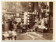 Citation: Gustave Boulanger in his studio sketching, ca. 1885 / unidentified photographer. Photographs of artists in their Paris studios, Archives of American Art, Smithsonian Institution.