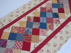 Quilted Table Runner Quilted Table Topper by ForgetMeNotQuilteds
