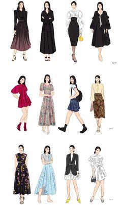 Korean Drama List, Korean Drama Movies, Fashion Design Drawings, Fashion Sketches, Korean Actresses, Korean Actors, Elegant Outfit, Korean Girl Groups, Pretty Dresses