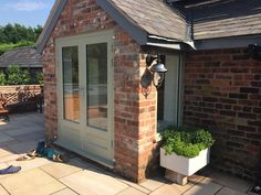 Solid Hardwood Double Doors - Fully Painted In Farrow & Ball - From Cheshire Joinery Ltd