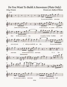 Flute Sheet Music: Do You Want To Build A Snowman - Sheet Music p1