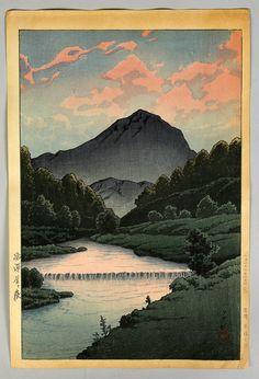 Kawase Hasui, Hilda Kamagatake woodblock, 1933