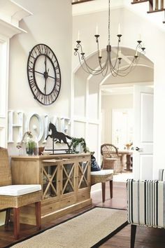 White on white.... beautiful. #Decorating, Neutrals, Foyer, Dining, Hallway