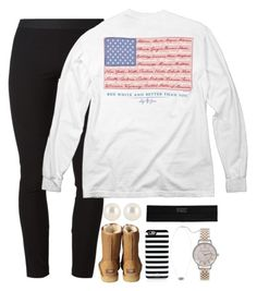 """""""And how are you today?"""" by classically-kendall ❤ liked on Polyvore featuring Henri Bendel, Helmut Lang, UGG Australia, Kate Spade, Kendra Scott and Olivia Burton"""