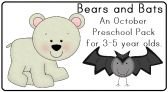 Bears and Bats Preschool Pack product from LittleAdventuresPreschool on TeachersNotebook.com