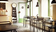 Business furniture for hospitality, retail and offices – IKEA Modern Restaurant, Modern Cafe, Restaurant Design, Ikea Inspiration, Coffee Shop Interior Design, Cafe Design, Bar Interior, Ikea Clock, Cosy Cafe