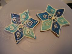 snowflakes with a twist... - These were a blast to make..royal icing and rolled buttercream.