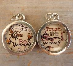 Word Candy Trust Yourself Charm