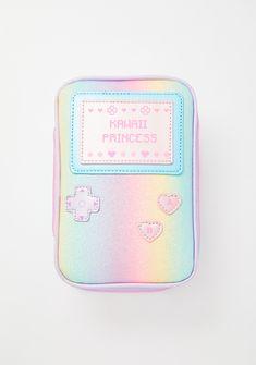 Gamer Girl Makeup Bag Burgundy Makeup Look, Beauty And The Geek, Sailor Baby, Princess Games, Girl Cases, Princess Makeup, Kawaii Makeup, Pastel Goth Fashion, Unique Handbags