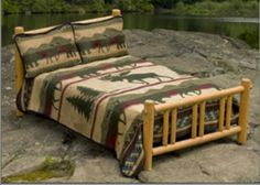 """Cabin and Lodge Blankets from """"Earth Ragz"""" by Ramatex come in 3 sizes with shams.  These economical ensembles start at $89.95 for the twin size."""