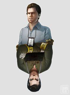 Dexter by Edouard Relou Dexter Serie, Dexter Finale, Dexter Wallpaper, Dexter Quotes, The Godfather Game, Michael C Hall, Hero Tv, Greys Anatomy Memes, Dexter Morgan