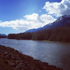 """This is my place to pause. It's called """"Eagle Run"""" and it's located in Brackendale, British Columbia. I love to run along the dyke by the river, and often stop to take in the view and to reflect. There's a bench perfect for sitting and contemplating what's on your mind. - Submitted by Catherine Trueman"""