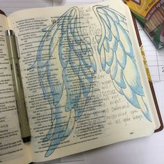 He will cover you with his feathers & under his wings you will find refuge. Illustrated faith. Journaling bible. Psalm 91